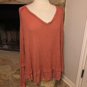 We The Free People Laguna Thermal Oversized Top M